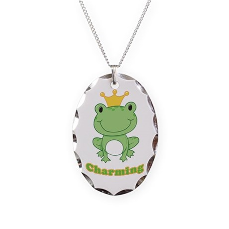 Charming (Frog) Necklace Oval Charm