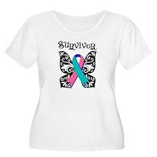 Butterfly Thyroid Cancer T-Shirt