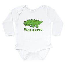 What a Croc Long Sleeve Infant Bodysuit