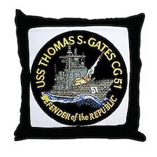 USS Thomas S. Gates CG 51 Throw Pillow