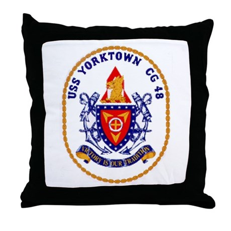 USS Yorktown CG 48 Throw Pillow