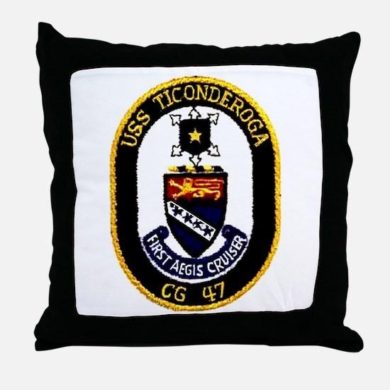USS Ticonderoga CG 47 Throw Pillow