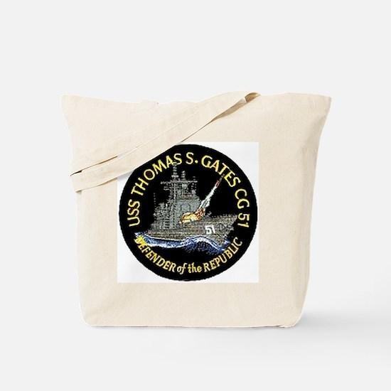 USS Thomas S. Gates CG 51 Tote Bag