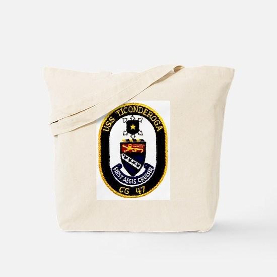 USS Ticonderoga CG 47 Tote Bag