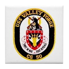 USS Valley Forge CG 50 Tile Coaster