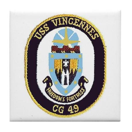 USS Vincennes CG 49 Tile Coaster