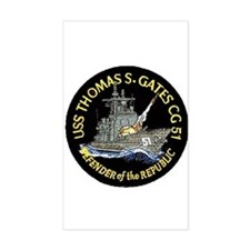 USS Thomas S. Gates CG 51 Rectangle Decal
