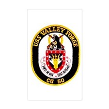 USS Valley Forge CG 50 Rectangle Decal