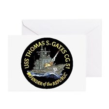 USS Thomas S. Gates CG 51 Greeting Cards (Package