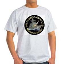 USS Thomas S. Gates CG 51 Ash Grey T-Shirt