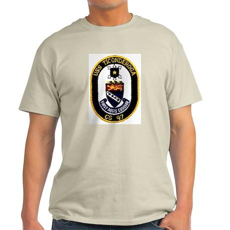 USS Ticonderoga CG 47 Ash Grey T-Shirt