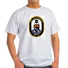USS Ticonderoga CG 47 Ash Grey T-Shirt