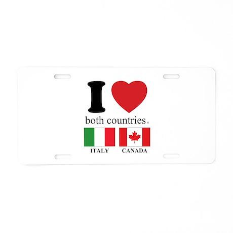 ITALY-CANADA Aluminum License Plate