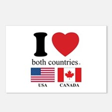 USA-CANADA Postcards (Package of 8)
