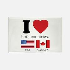 USA-CANADA Rectangle Magnet