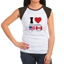 USA-CANADA Women's Cap Sleeve T-Shirt