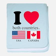USA-CANADA baby blanket