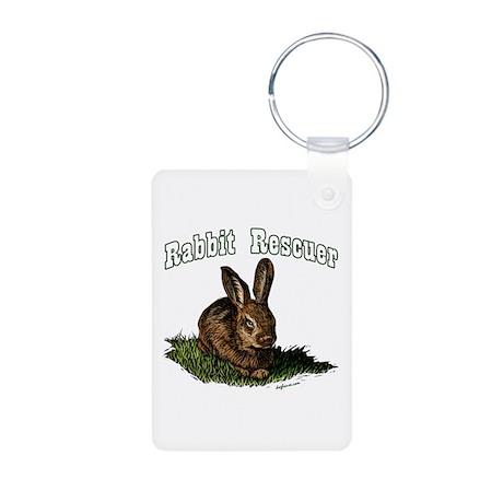 Rabbit Rescuer Aluminum Photo Keychain