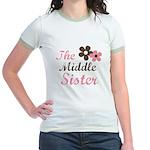 the middle sister pink brown Jr. Ringer T-Shirt