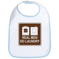 Real Men Do Laundry Bib