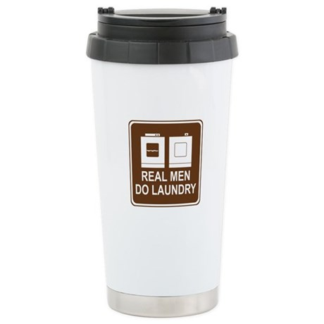 Real Men Do Laundry Stainless Steel Travel Mug