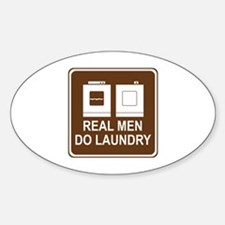 Real Men Do Laundry Sticker (Oval)