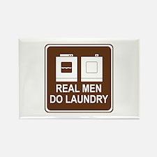 Real Men Do Laundry Rectangle Magnet