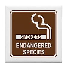 Smokers Endangered Species Tile Coaster