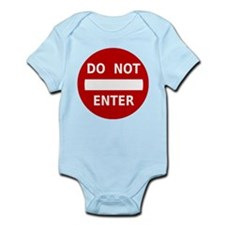 Do Not Enter Sign Infant Bodysuit