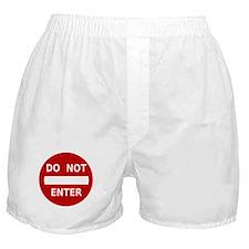 Do Not Enter Sign Boxer Shorts