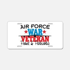 Air Force War Veteran Aluminum License Plate