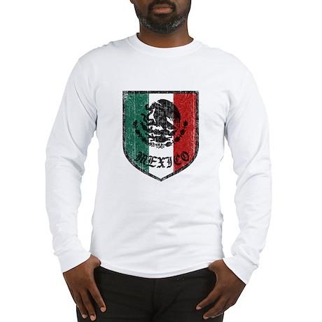 Mexican Flag Crest Long Sleeve T-Shirt