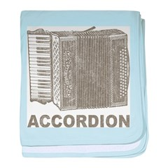 Vintage Accordion baby blanket