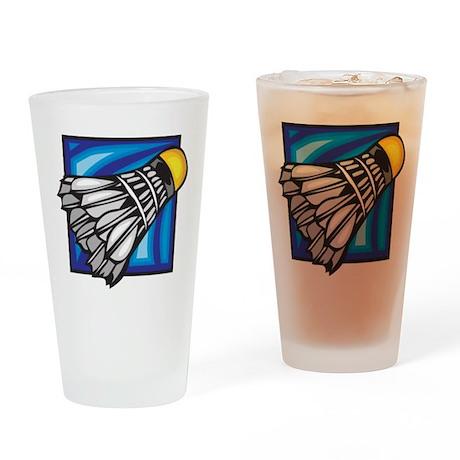 Badminton Shuttlecock Pint Glass