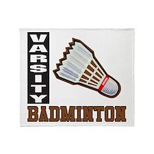 Badminton Varsity Throw Blanket