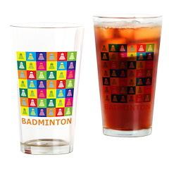 Pop Art Badminton Pint Glass