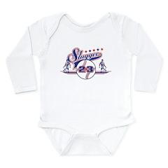Slugger Baseball Long Sleeve Infant Bodysuit