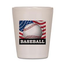 American Baseball Shot Glass