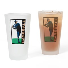 Baseball Pint Glass