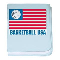 Basketball USA baby blanket