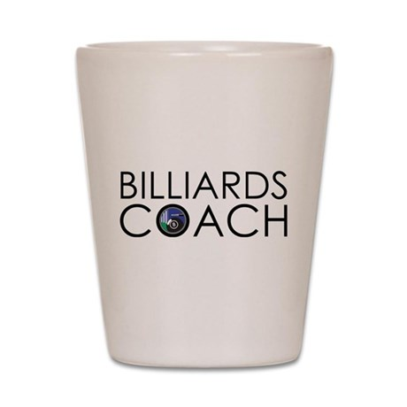 Billiards Coach Shot Glass