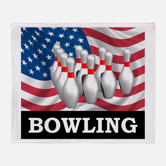 American Bowling Throw Blanket