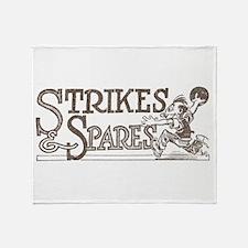 Bowling Strikes & Spares Throw Blanket