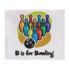 B is for Bowling Throw Blanket