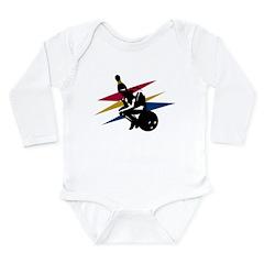 Bowling Thinker Long Sleeve Infant Bodysuit