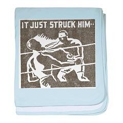 Retro Boxing baby blanket