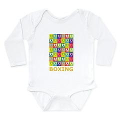 Pop Art Boxing Long Sleeve Infant Bodysuit