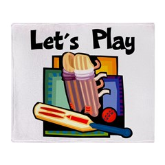 Let's Play Cricket Throw Blanket