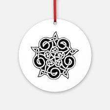 Celtic Knotwork Pentagram Ornament (Round)