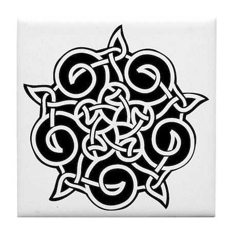 Celtic Knotwork Pentagram Tile Coaster